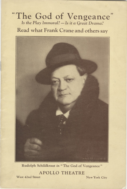 <em>The God of Vengeance</em> pamphlet, 1923. Courtesy of the Museum of the City of New York.