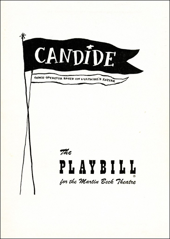 1956 Playbill cover for Candide, 1956.