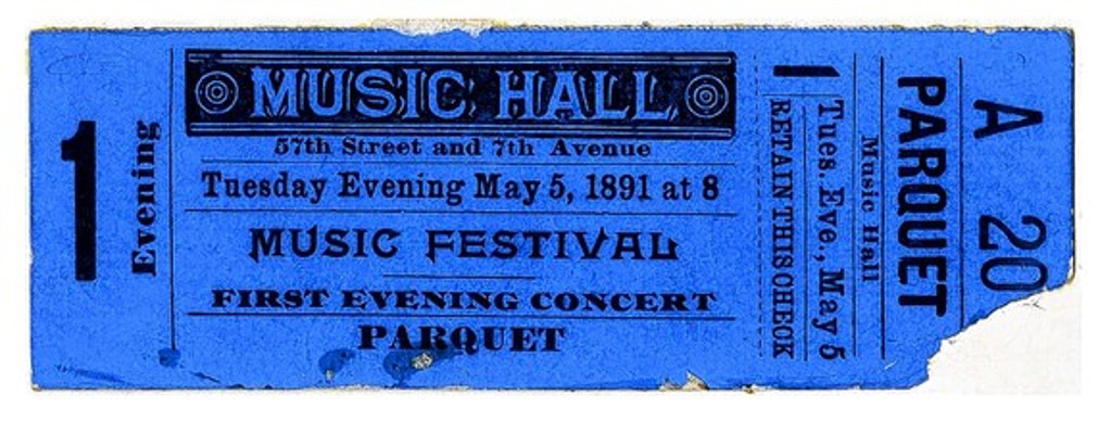 carnegie opening ticket - carnegie hall archives
