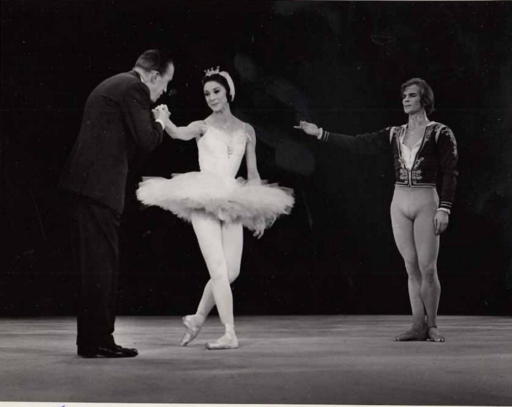Ed Sullivan with Margot Fonteyn and Rudolf Nureyev.