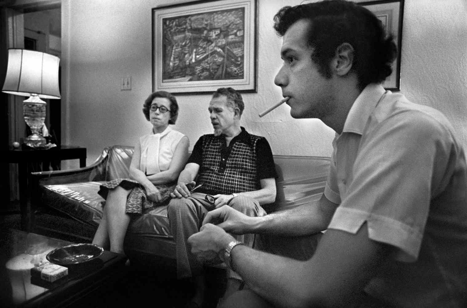FILE -- Morty Manford, right, with his parents, Jeanne and Jules Manford, at home in the Queens borough of New York, Aug. 29, 1972. The Manfords publicly supported their son, who was gay and active in the gay rights movement; opened their house to members of the gay community; and helped start the group that became the national organization Pflag. (Paul Hosefros/The New York Times)