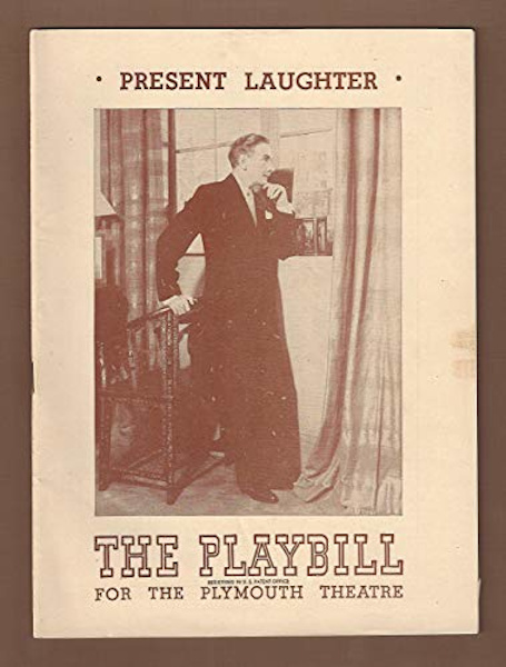 Playbill cover for Present Laughter, by Noel Coward, with Clifton Webb, 1946.