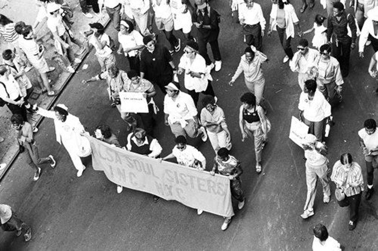 SSS pride parade 1985 photo by suzanne poli
